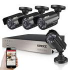 ZOSI 4 Channel 1080P DVR 2MP Outdoor Home Surveillance Secur