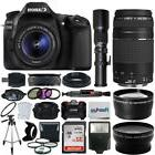 Canon 80D Digital Camera + 18-55mm IS + 75-300mm + 500mm + T