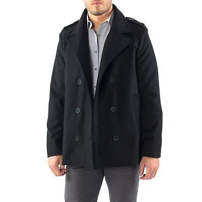 Alpine Swiss Jake Pea Wool Blend Double Peacoat