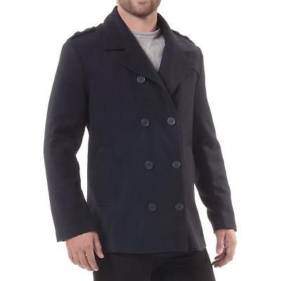 Alpine Swiss Jake Mens Pea Coat Wool Blend Double Dress Peacoat