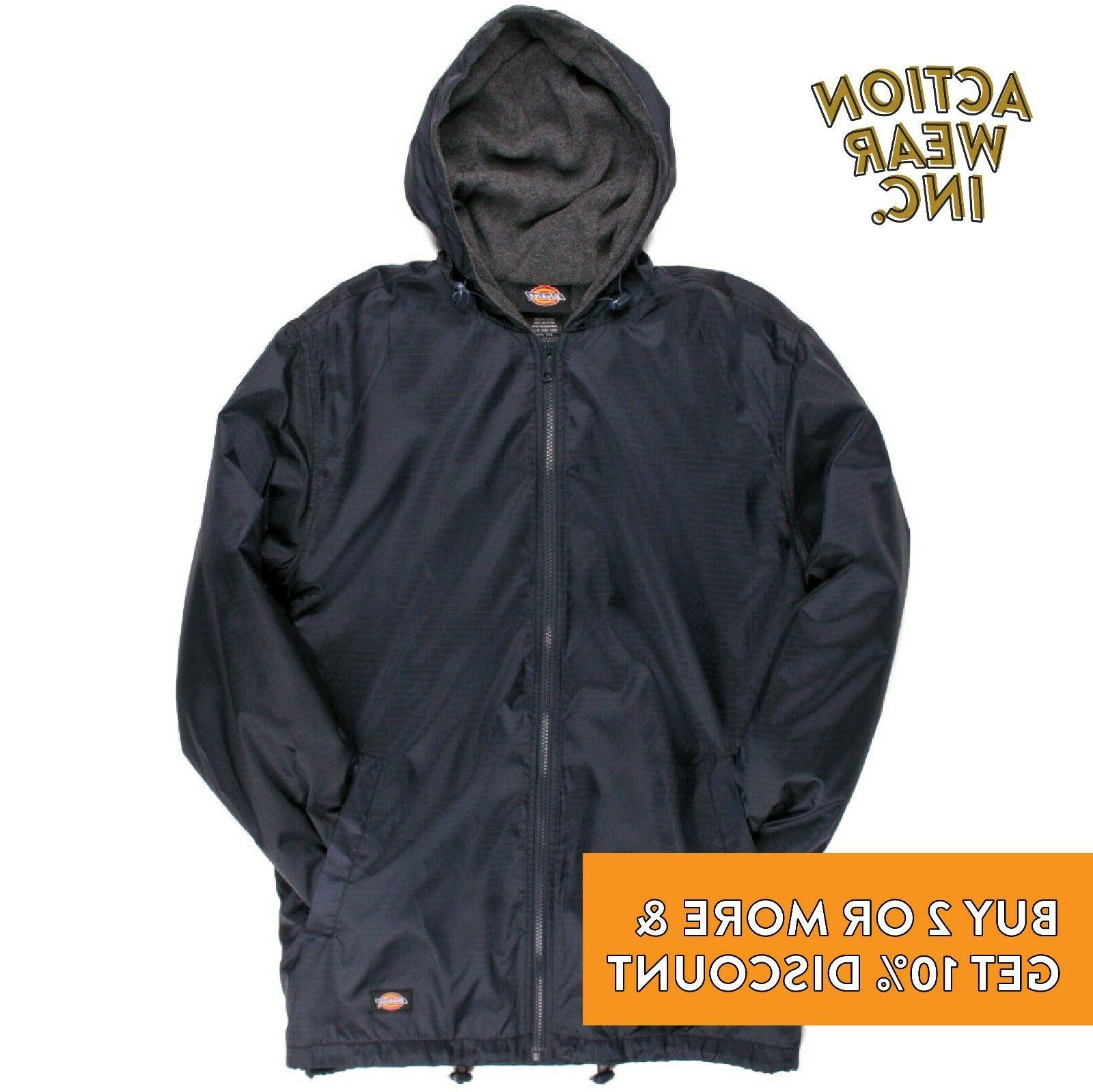 DICKIES 33237 HOODED WINDBREAKER JACKET WATERPROOF RAIN FLEECE