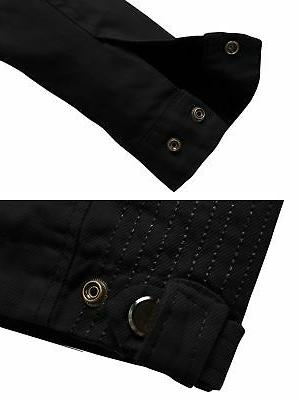 Wantdo Cotton Collar Front Jacket Black