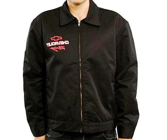 Chevy Mechanics Jacket Chevrolet Racing Black Polyester Zip