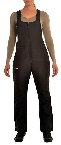 Women's Insulated Overalls Bib, Small, Black