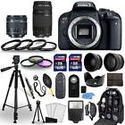 Canon EOS Rebel T7i Camera + 18-55mm stm + 75-300mm + 30 Pie