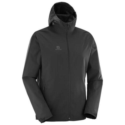 Salomon Essential Mens Waterproof Jacket - Black