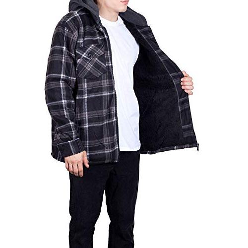 Fleece Jacket for Zip Up Tall Lined Sherpa