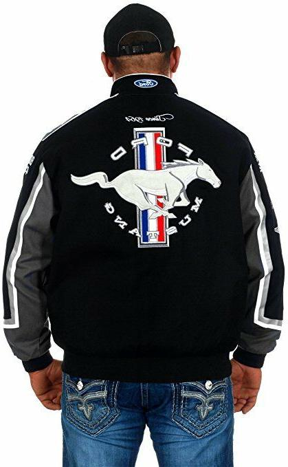 Ford Black Twill Collage Best Logos Jacket