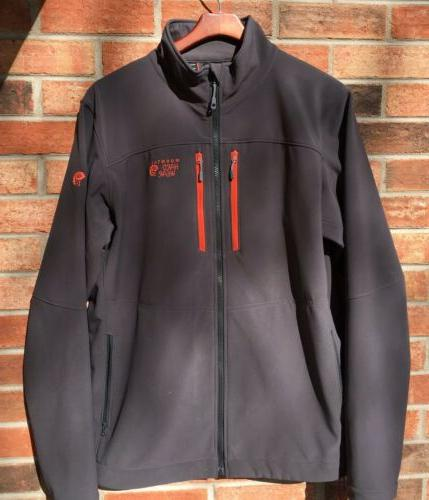 Mountain Stretch Jacket Grey With Orange Accents