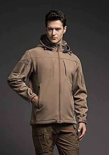 CQR Tactical Softshell Hoodie Hunting EDC Coat