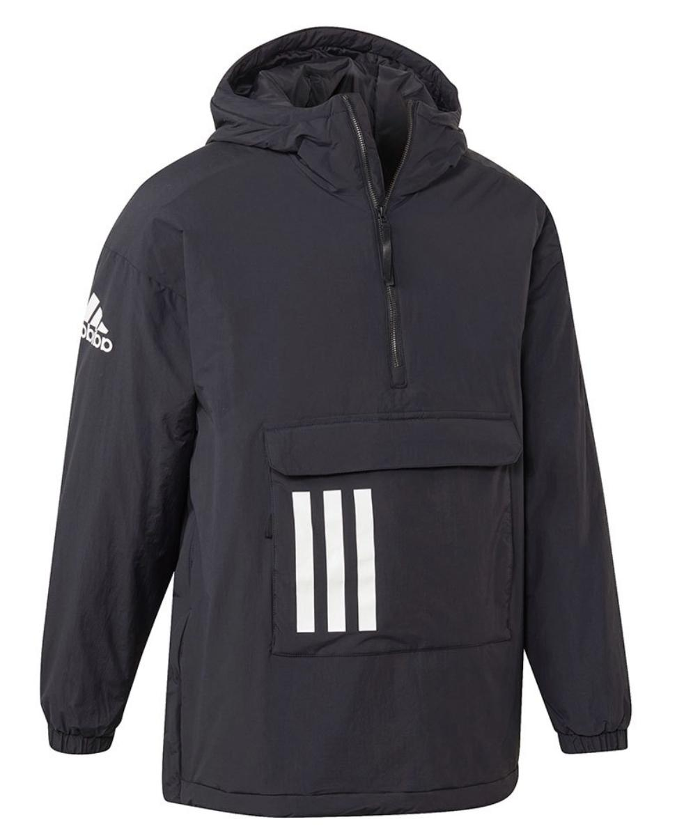 insulated anorak outdoor thermal jacket mens black