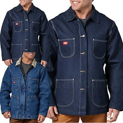 jacket mens denim blanket lined or zip