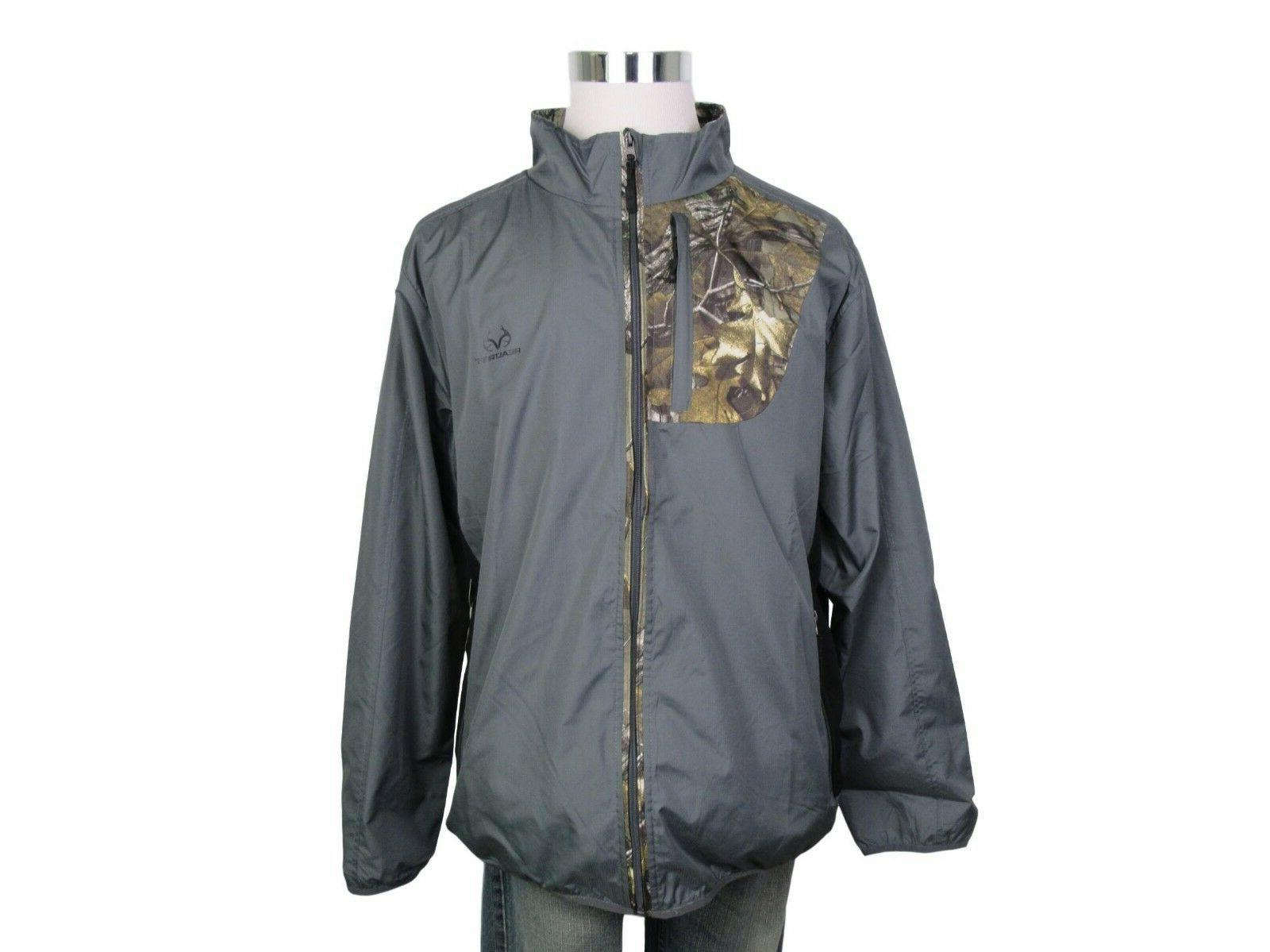 RealTree Jacket Mens Size Large Camo Charcoal Grey Full Zip