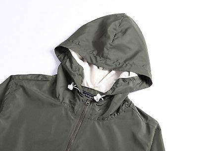 Beautiful Men Lightweight Windbreaker Zip Coat Hunter