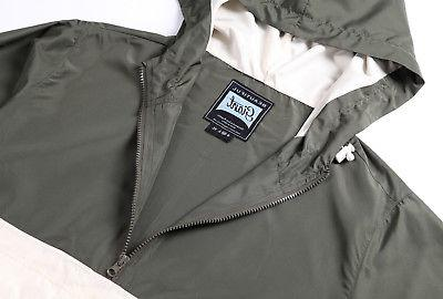 Beautiful Giant Lightweight Windbreaker Zip Coat Hunter