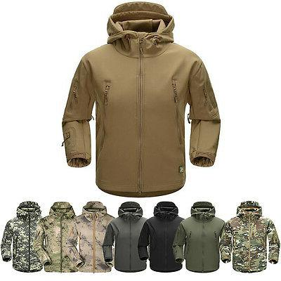 men outdoor jacket waterproof tad coat shark