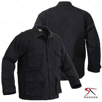 Men's Black Rip-Stop Uniform Jacket - Rothco SWAT Tactical B