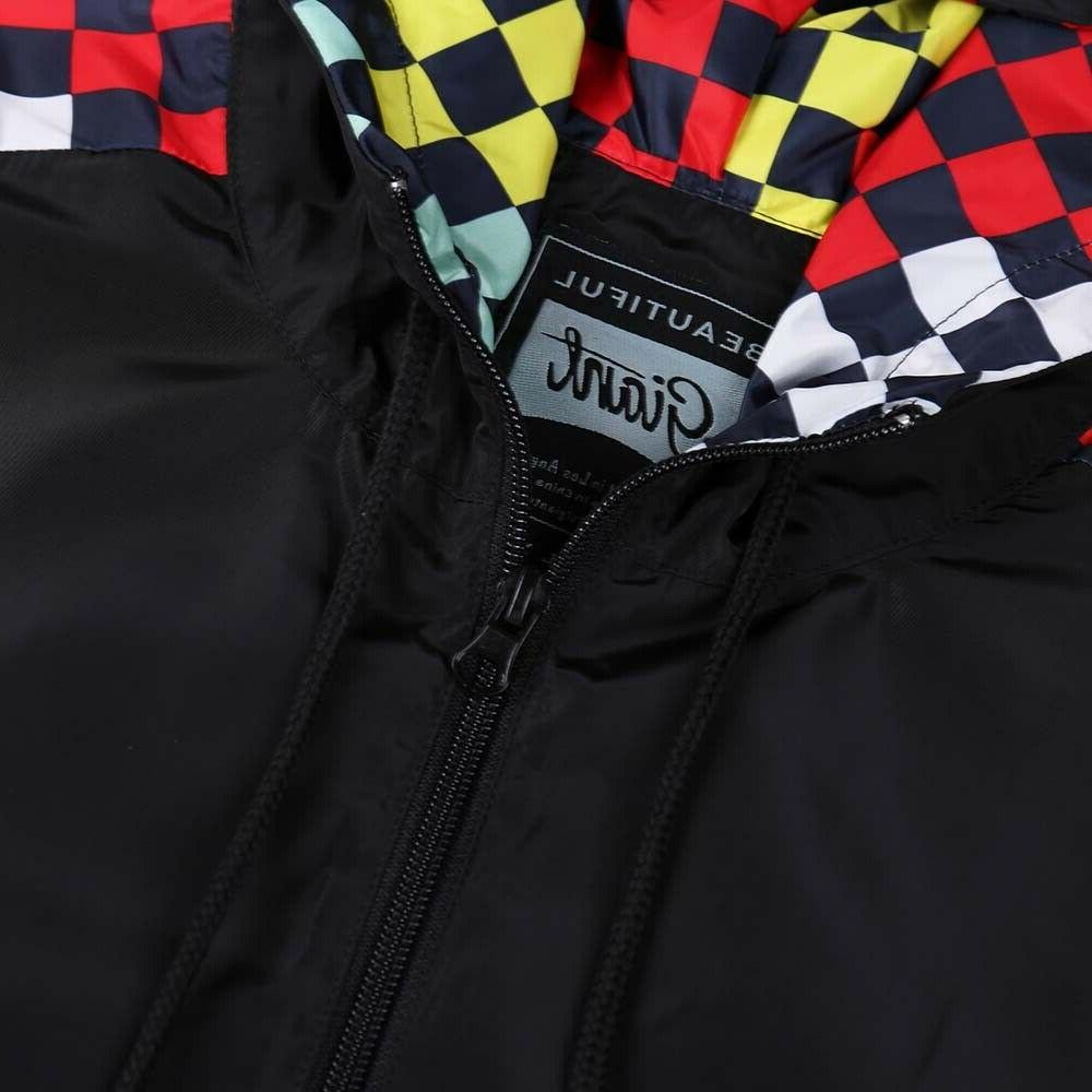 Beautiful Giant Windbreaker Front Zipper