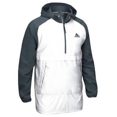 adidas Men's Modern Varsity Anorak Quarter Zip Jacket Hooded