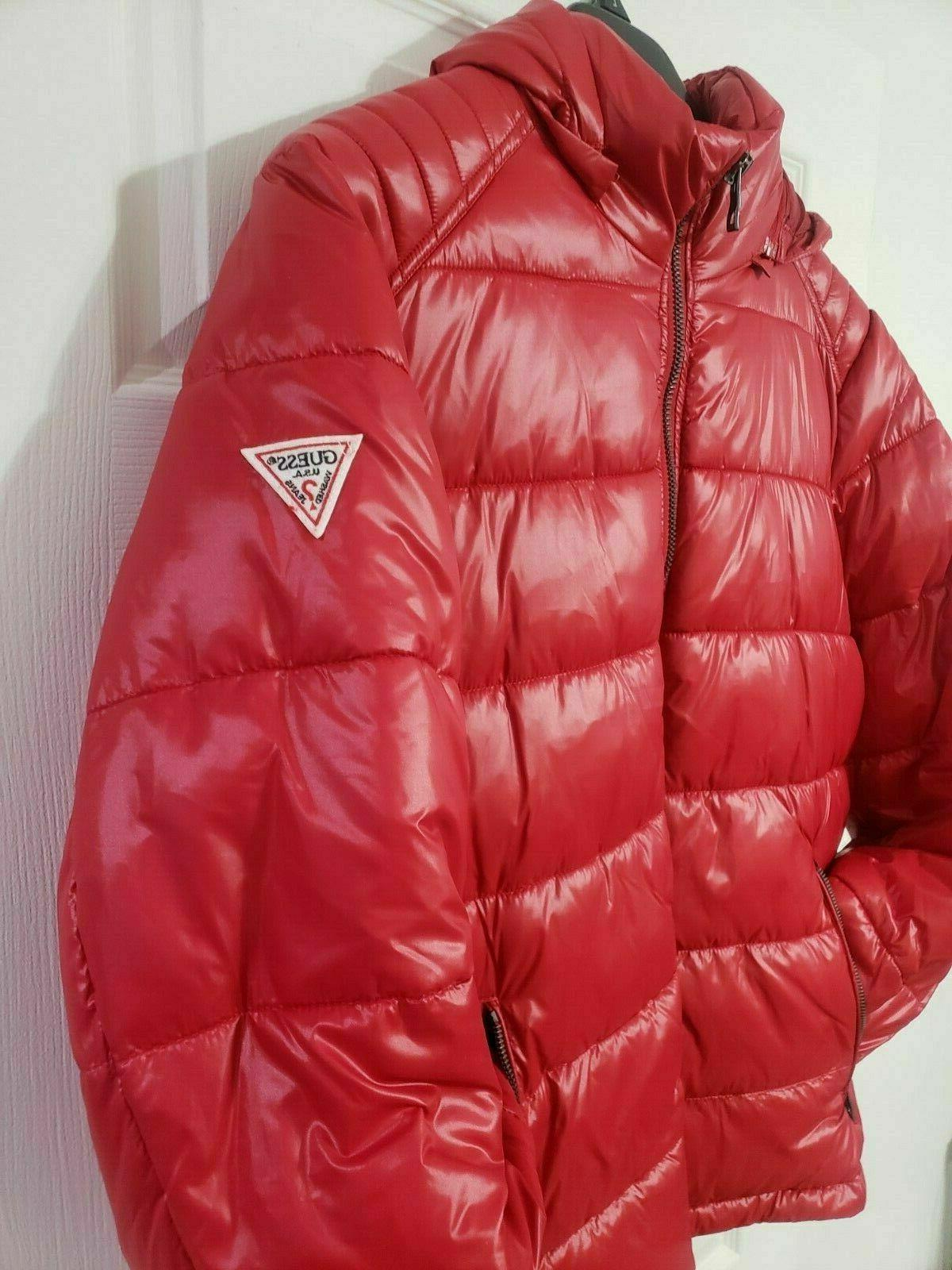 GUESS Removable Hood Red - With Tags
