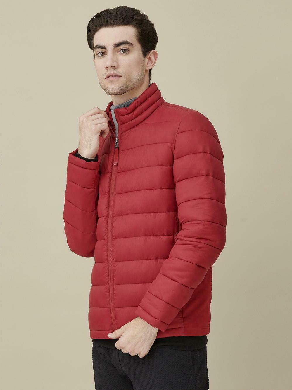 GUESS Men's Stand Nylon Jacket RED - Size NEW