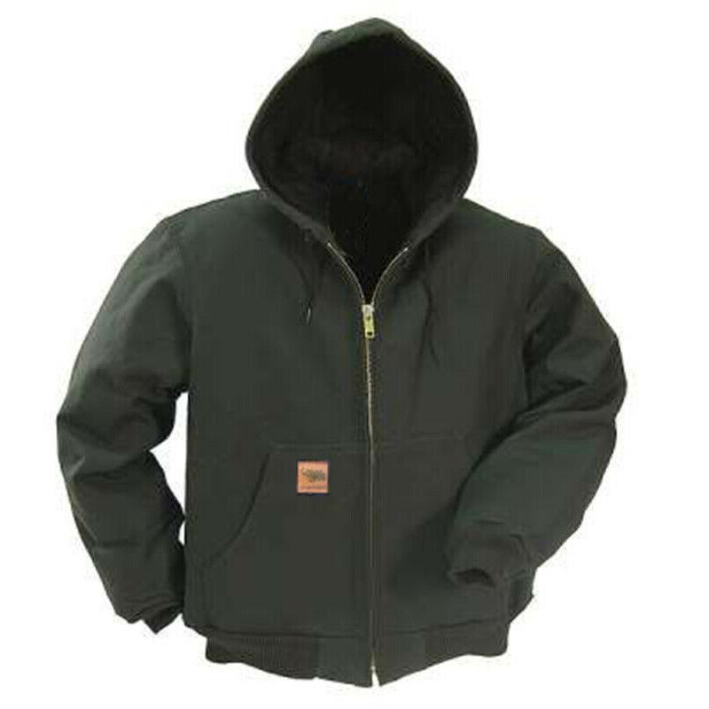 Mens Duck Jacket Jacket Canvas Quilted