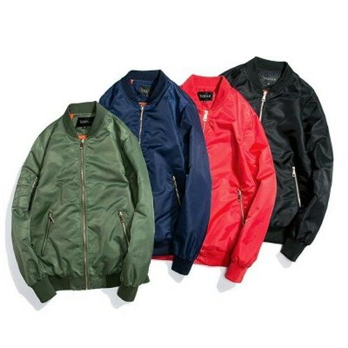 Men Women Aviator Jacket Tops Coat Clothes Outdoor Sport Tra