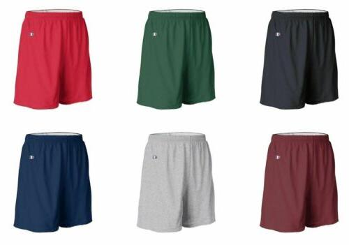 Champion Mens Athletic Gym Shorts, Cotton Jersey