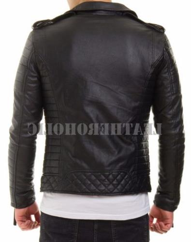 MENS JACKET REAL BIKER NEW XS-3XL VINTAGE
