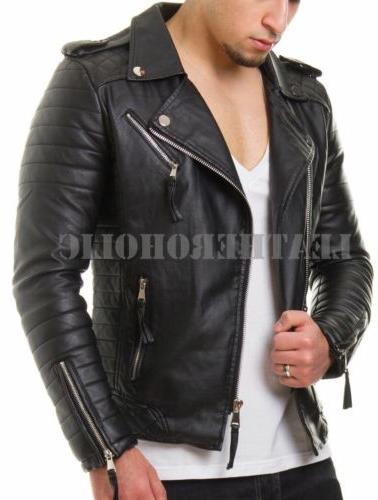 MENS JACKET SLIM BIKER NEW