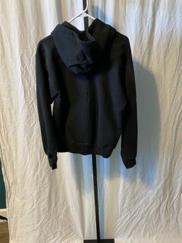 Mens Black Hanes Up Sweatshirt Small Nwot