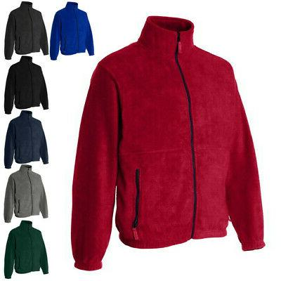 mens coats full zip fleece jacket 3061