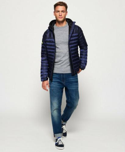 Hooded Jacket Navy