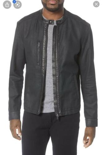 John Varvatos Mens Cory Coated Canvas Jacket New With Tags S
