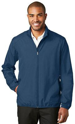 Mens Golf Rain Jacket Lightweight Full Zip Water Wind Resist