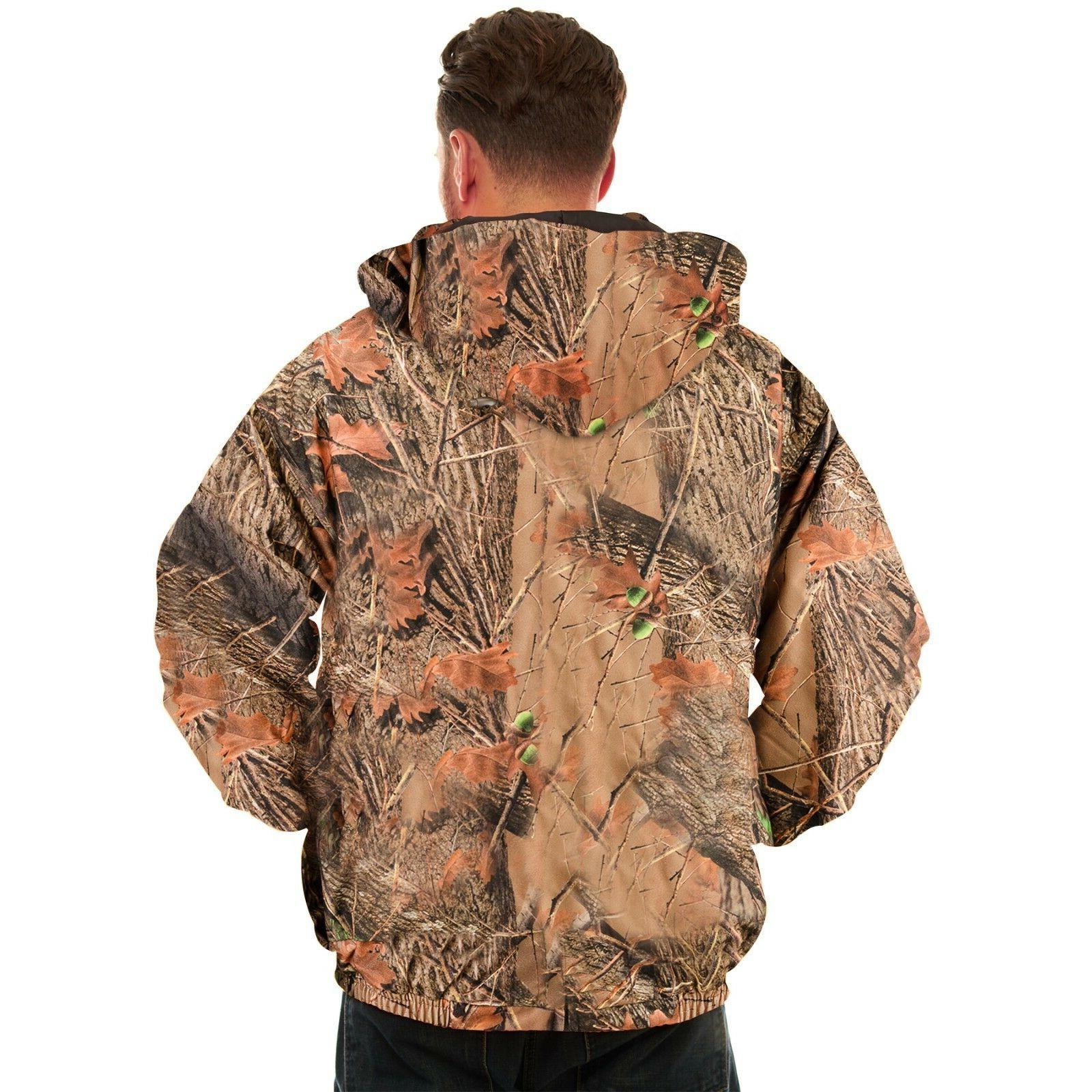 MENS CAMOUFLAGE TANKER JACKET- HUNTING - CAMPING