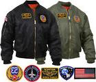 Mens Military Air Force Style MA-1 Flight Jacket with 5 Remo