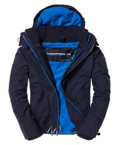 Mens Superdry Pop Zip Hooded Arctic SD-Windcheater Jacket Bl