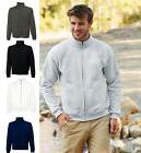 Fruit of the Loom Mens Premium Quality Sweat Jacket Front Zi