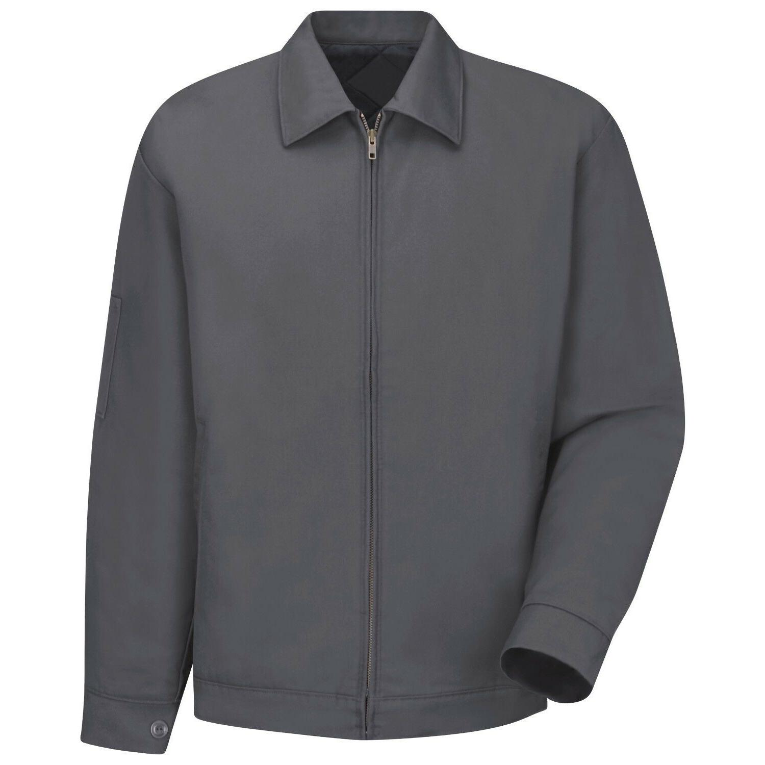 mens slash work jacket charcoal