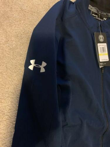 Under Armour Storm Launch Jacket Blue Size New Tags