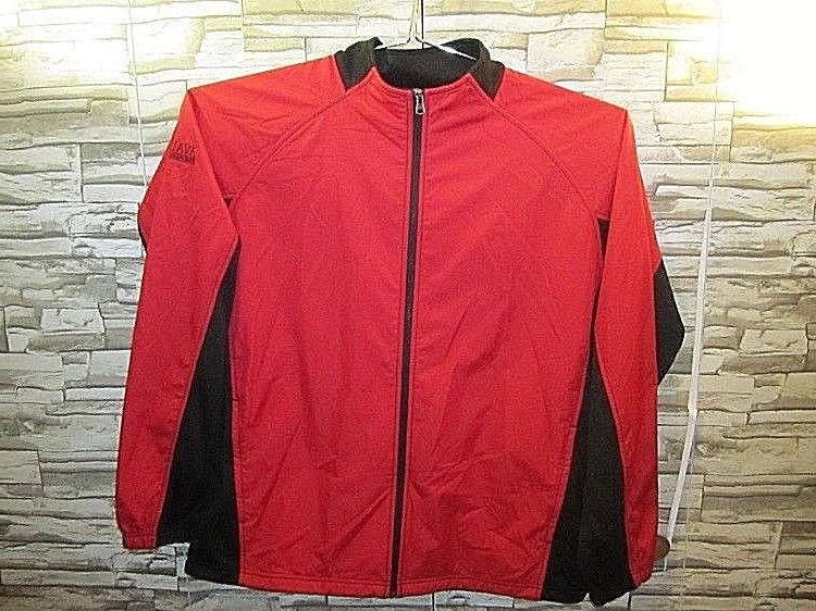 Charles River Apparel Mens The Synthesis Jacket Red Black Zi