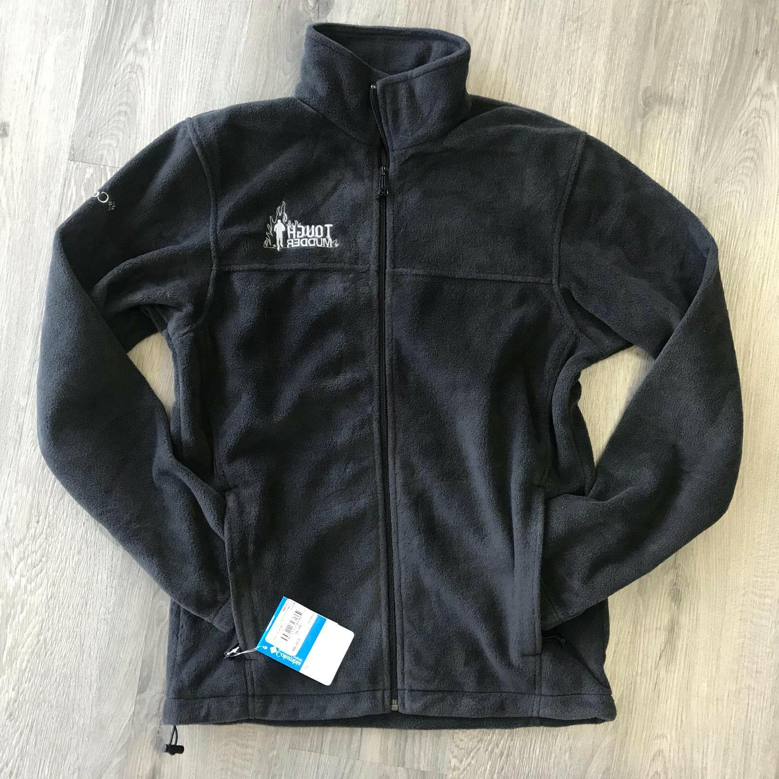 Mens Columbia Tough Mudder Full Zip Fleece Black Jacket All