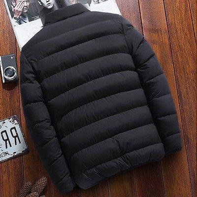 Mens Warm Thick Hooded Puffer Parka