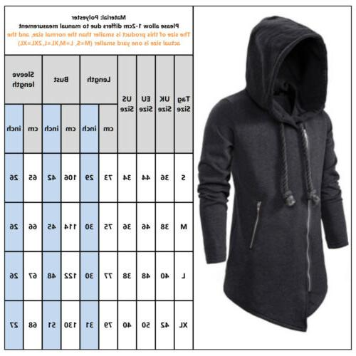 Men's Gothic Side Zip Hooded Sweater Outerwear