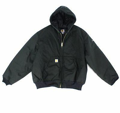 Carhartt NEW Black Mens Size 2XL Artic Quilt Lined Hooded Ja