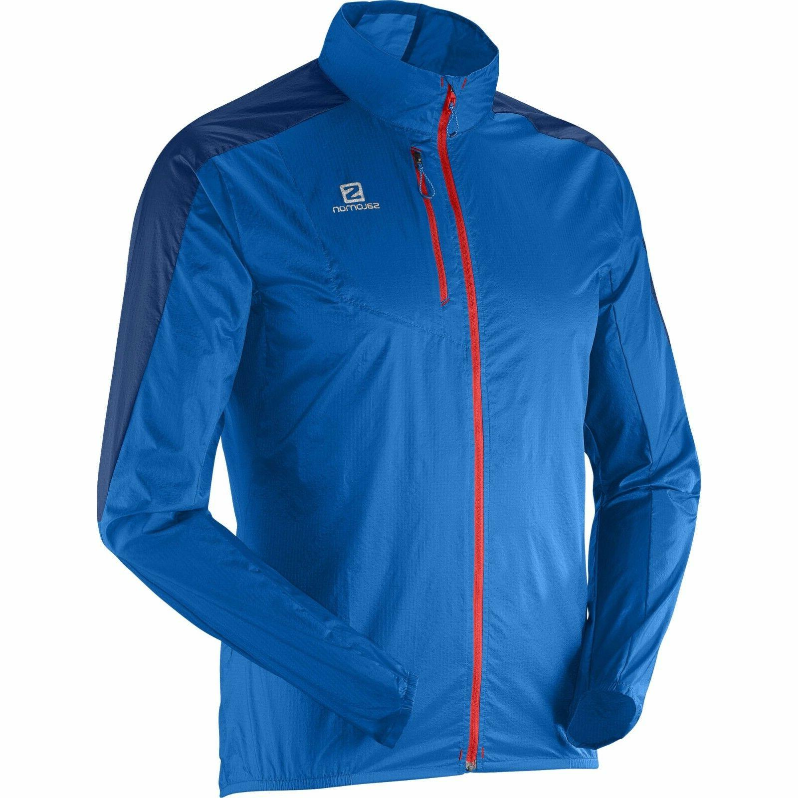 NEW Salomon Fast Wing Ultralight Trail Running Jacket Blue