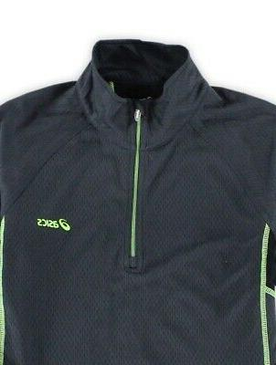 Asics Gray Mens 2XL 1/4 Performance Jacket