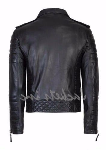 New Genuine Leather Jacket BROWN Slim jacket