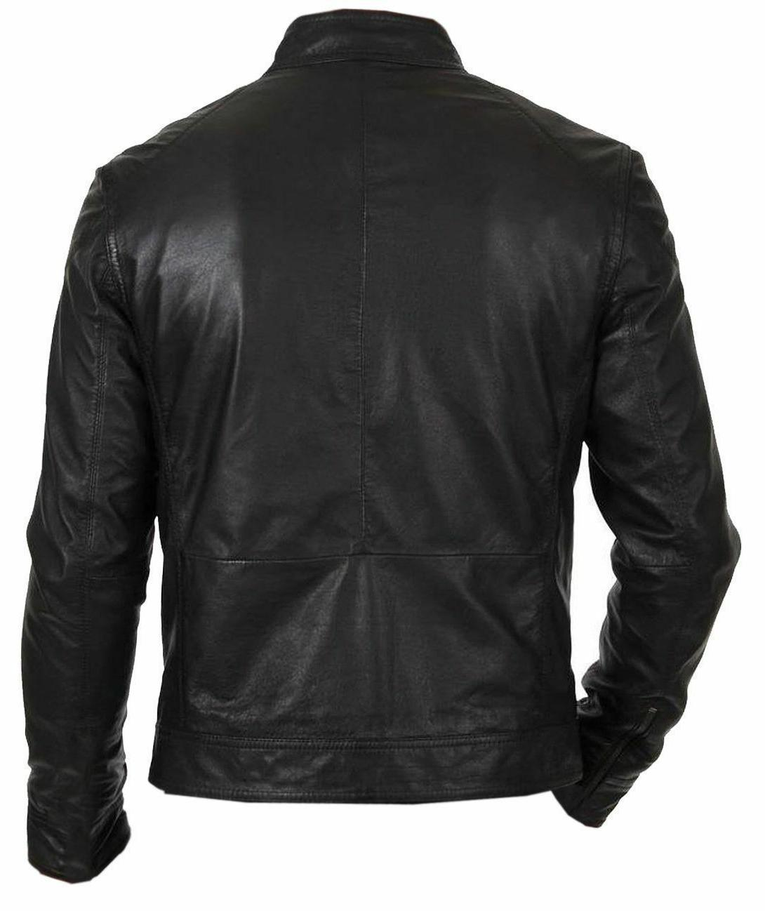 NEW VINTAGE BLACK GENUINE JACKET SLIM FIT